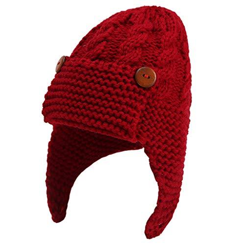 Yoking Mütze für Herbst und Winter, Wollmütze, für Kinder, Strickmütze,...