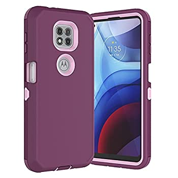 Thejex Case for Motorola Moto G Power 2021 For Moto G Power 2021 Case Full Body Drop Protection Shock Dust Absorbing Grip Plastic Bumper TPU 3-Layers Durable Solid Phone Sturdy Hard Cover [Wine Red]