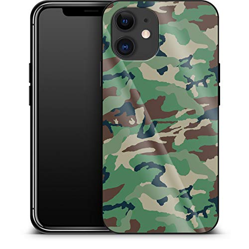 Luxury Mobile Phone Case Green and Brown Camo for Apple iPhone 12 Mini