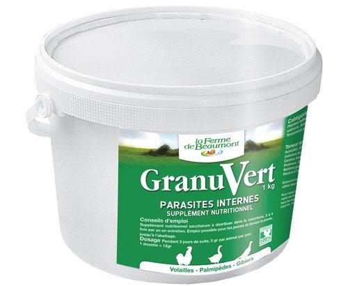 FERME DE BEAUMONT GranuVert 1 kg - purge granulés concentrés volailles