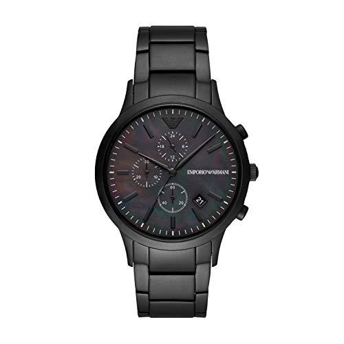 Emporio Armani Reloj Cronógrafo para Hombre de Cuarzo con Correa en Acero Inoxidable AR11275