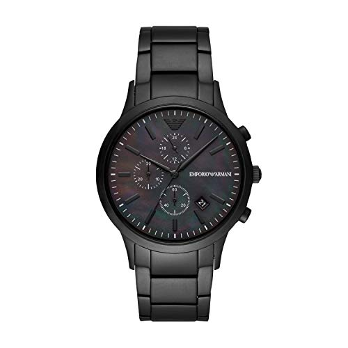 Emporio Armani Herren Chronograph Quarz Uhr mit Edelstahl Armband AR11275