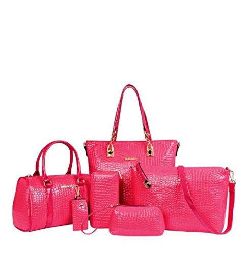Lacaca Women Handbag-Borsa a tracolla in pelle da donna con tracolla Messenger-Borsa Tote-Borsa Hobo