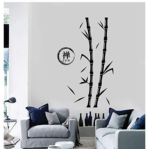 Pegatinas De Pared Tatuajes De Pared Árbol Bambú Zen Enso Círculo Vinilo Mural Arte Sala De Estar Sofá Fondo Decoración Dormitorio Calcomanías Cartel 42X67cm