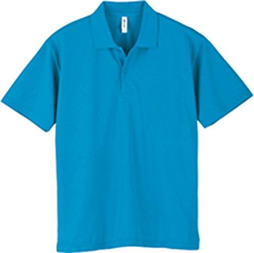 [グリマー] 半袖 4.4オンス ドライ ポロシャツ [UV カット] 00302-ADP ターコイズ 140cm (日本サイズ140相当)