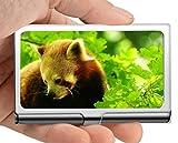 Business Name Card Holder Wallet,Bed Little Panda Business Card Holder Business Card Case (Stainless Steel)