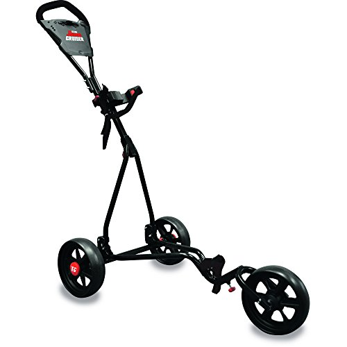 LONGRIDGE Kinder GOLFTROLLEY JUNIOR 3 RÄDER VERSTELLBAR, SCHWARZ/ROT