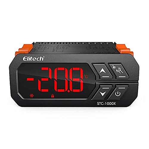 Elitech STC-1000X - Termostato con sonda, refrigeración y calefacción, termostato, terrario, reptil, colador, frigo, calentador de agua, acuario, regulador de temperatura