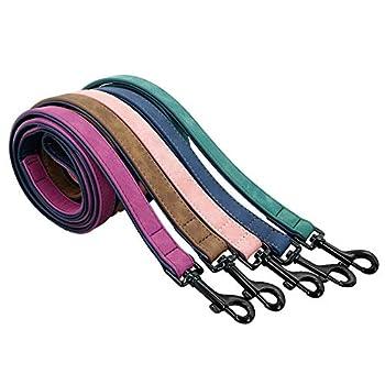 Pet Chien Laisse Harnais en Cuir Pet Chien Chien Marche Courir Laisses Formation Corde Ceinture for Petit Moyen Grand Chien Fournitures for Animaux Classic (Color : Pink, Size : S)