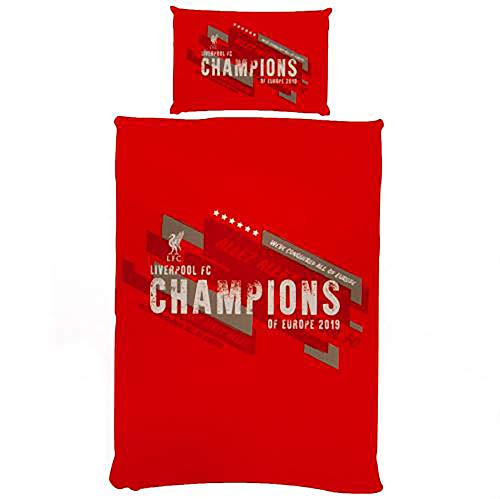 Official Licensed Liverpool F.C - Single Duvet Set (CHAMPIONS OF EUROPE)