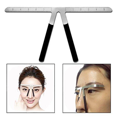 OFKPO Tattoo Augenbrauen Lineal,für Augenbrauen Permanent Make-up mit DREI Punkte Positionierung
