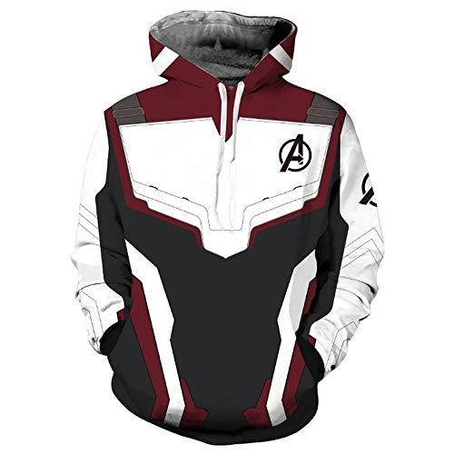 Los Vengadores Hombres Sudadera Con Capucha Capitán América Superhéroe Equipo Thanos Sudadera Hombres Camiseta Avengers Endgame Comic Infinity War Quantum Chaqueta