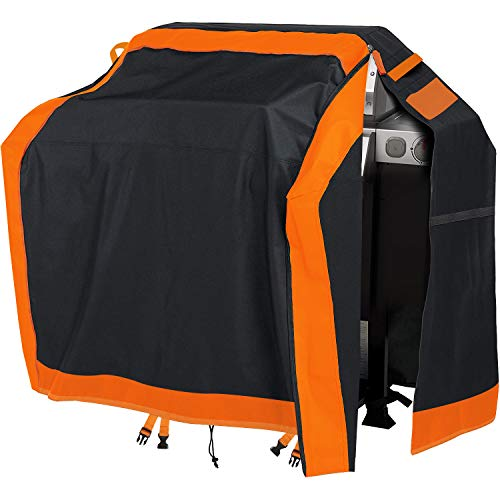 gulrear Grill Cover,BBQ Grill Cover 58 Inch,Gas Grill Covers Waterproof, Barbeque Cover with Full-Height Waterproof Zipper,High-Density,and Fade Resistant