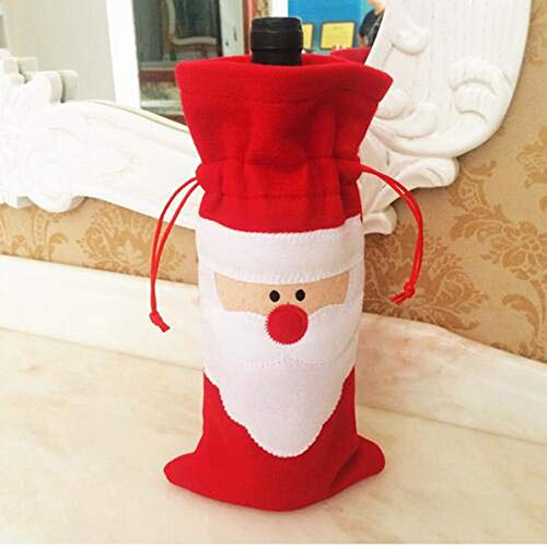 5 unids/lote bolsas de botellas de vino tinto de Papá Noel baratas...