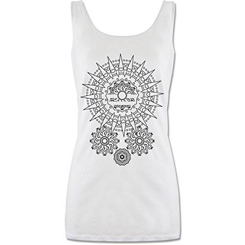 Shirtracer Kunst & Kreativität - Boho Mandala Yoga - L - Weiß - top Damen Mandala - P72 - Tanktop für Damen und Frauen Tops