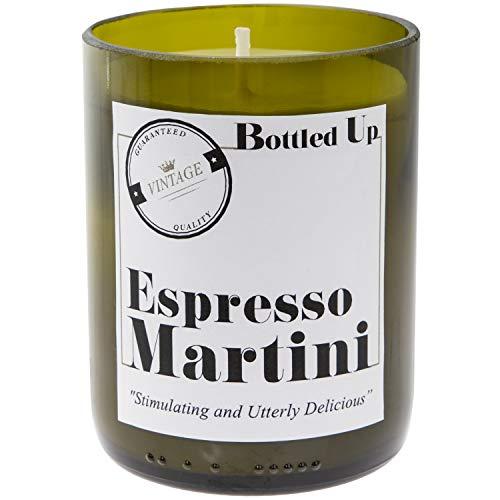 Flaschen bis Duftkerze grün Wein Flasche,–Espresso Martini 50Stunden Brenndauer