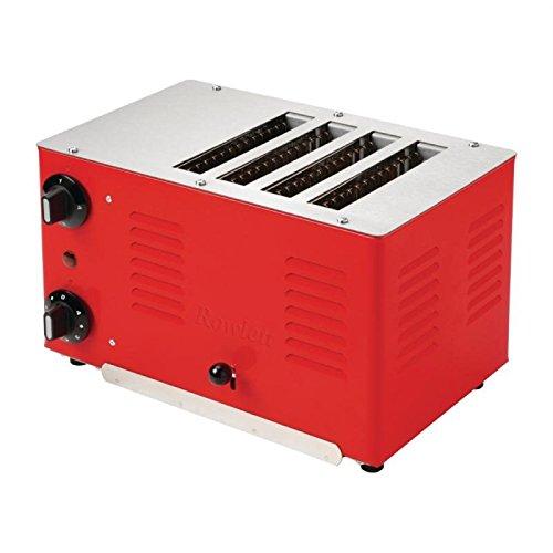 Rowlett Regent Toaster 4ATTR-131-4 Schlitze rot