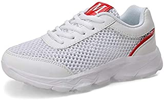FYXKGLa Summer New Big Net Hollow Ladies Casual Shoes with Wild Women's Shoes Sports Shoes (Color : White, Size : 41EU)