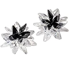YACQ 925 Sterling Silver Cubic-zirconia CZ Lotus Birth Month Charms Flower Stud Earrings Jewelry for Women