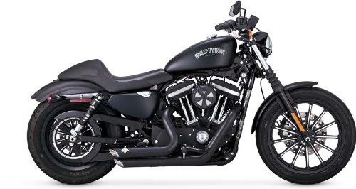 Vance & Hines 47229 Black Short Shots Staggered Full System Exhaust for Harley Sportster 2014-18 Model, 1 Pack