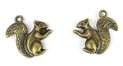 20x Anti-Brass Fashion Jewelry Making Charms A3068 Squirrel Wholesale Supplies Pendant Craft DIY Vintage Alloys Necklace Bulk Supply Findings