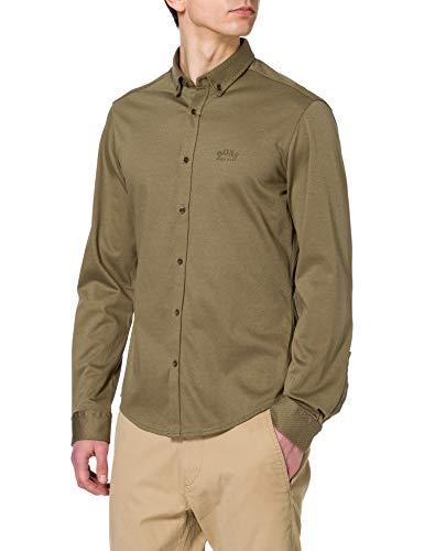 BOSS Biado_r 10233753 01 Camisa, Verde, M para Hombre