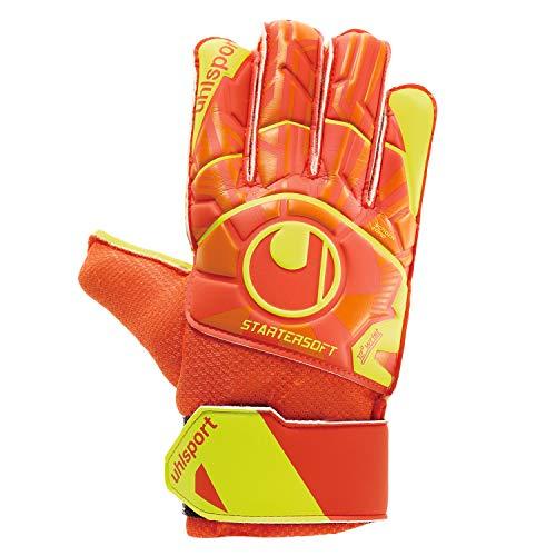 uhlsport Herren Impulse Torwart-Handschuhe, Dynamic orange/Fluo gelb, 3