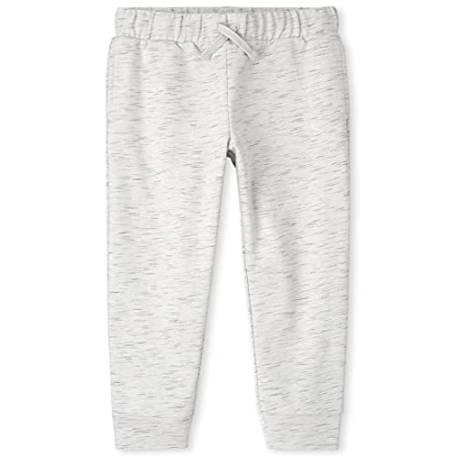 The Children's Place Boys' Active Marled Knit Jogger Pants, Simplywht, X-Small