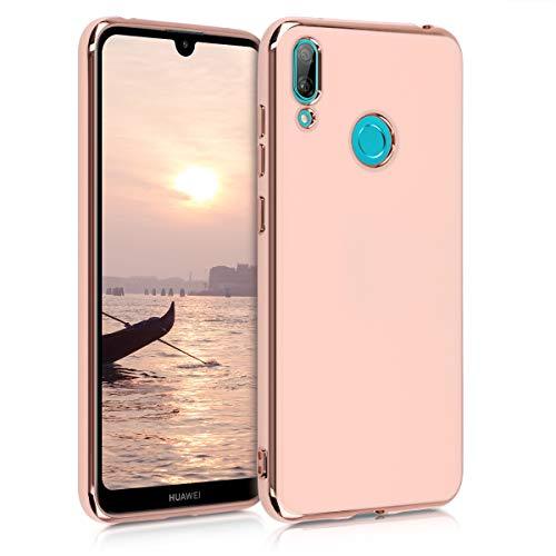 kwmobile Hülle kompatibel mit Huawei Y7 (2019) / Y7 Prime (2019) - Hülle Handy - Handyhülle Rosegold