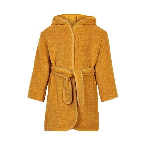 Pippi Unisex-Child Organic Bath Robe Swimwear Cover Up, Mineral Yellow, 7480