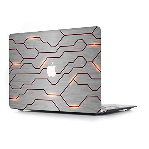 L2W Hülle Für Apple MacBook Pro Neu 15,4 Zoll Mit Touch Bar Modell A1990/A1707 Laptop Computer Zubehör Plastik Drucken Schutz Cover kreatives Design Hart Case Tasche,Weiß