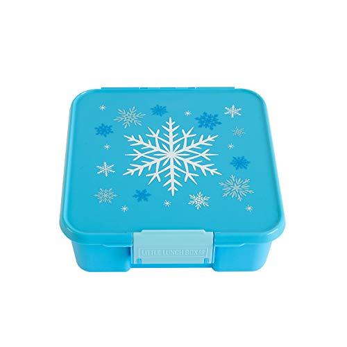 Little Lunch Box Co., Brotdose für Kinder mit Unterteilungen | Bento Box (Bento 3 Snowflake)