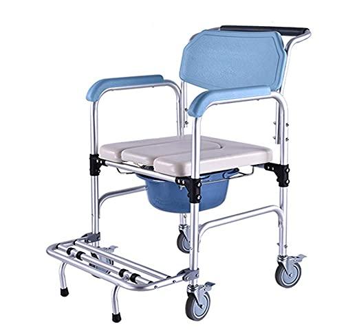 Sillón reclinable de Aluminio para Inodoro con reposapiés y Manillar