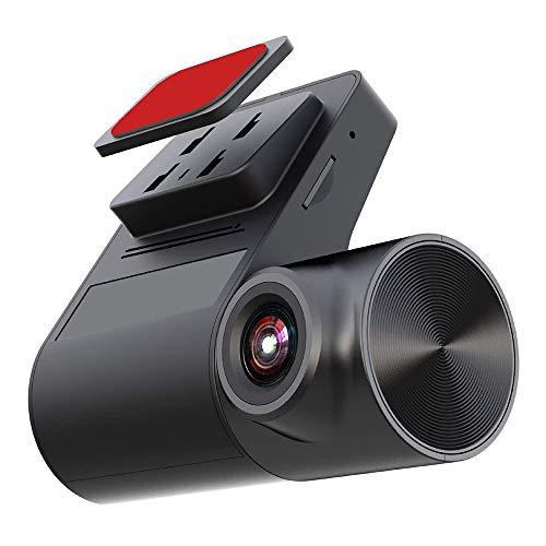 Mini Cámara de Coche Cámara Delantera de Coche Grabadora 140 Grados Gran Ángulo Dashcam, WDR Soporte de Monitor de Aparcamiento 128 GB Máx