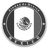 Impresionantes pegatinas de vinilo (juego de 2) 30 cm BW – Ciudad de México DF Divertidas calcomanías para portátiles, tabletas, equipaje, reserva de chatarras, frigoríficos, regalo fresco #41858