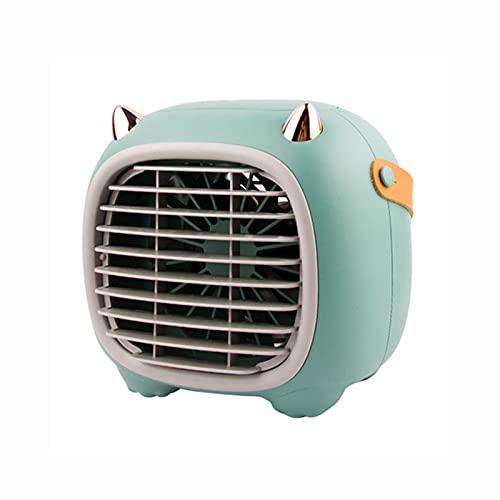 LDH Ventilador Multifuncional De Mini Escritorio, Aerosol Portátil USB Humedad Ventilador De Refrigeración, 3 Velocidades del Viento, Salida De Aire Ajustable, Ventilador Portátil Silencioso