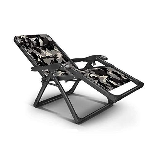 JDK Tumbona Plegable Zero Gravity, Sillas reclinables Reclinables Tumbonas Impermeables Chaise Lounge Tumbonas Metal para jardín Muebles de Patio Oficina al Aire Libre, Gris,