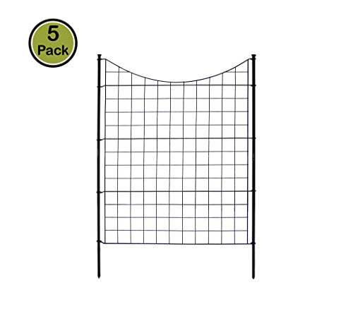 Zippity Outdoor Products WF29002 Garden Metal Fence 42' 1 Box (5 Panels & 6 Stakes)