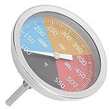 100-550 ℉ Type de pointeur de jauge de température de four en métal pour cuisine fumée BBQ Grill cuisine domestique