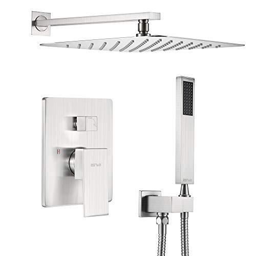 ESNBIA 10 Inches Matte Black Shower System, Shower...