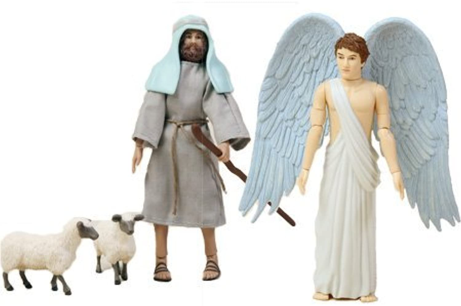 Birth of Jesus Angel and Shepherd Action Figure Set by BibleQuest