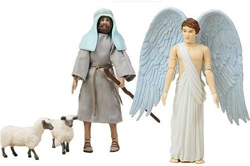 promociones de equipo Birth of Jesus Angel and Shepherd Action Figure Figure Figure Set by BibleQuest  precios al por mayor