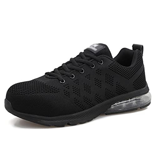 Zapatos de Trabajo 2021 Actualizar Zapatos de Seguridad de Gamuza Cap Toe Trabajo Ejercicio Zapatos INDUSTRIALES Mujeres Soldador Soldadura Botas DE TOKLE LIGHTHE (Size : 44)