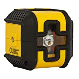 Stanley Stht77498-1 Cross Cubix Laser Level Red Beam - 12m Range - 4 ° Leveling - Water and Dustproof - 1/4 'Thread - Automatic Compensator Lock