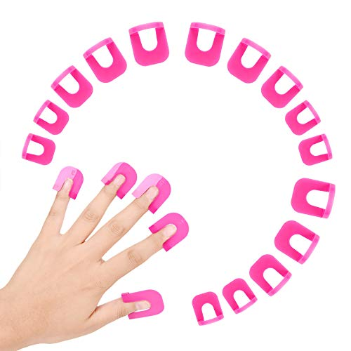 Hanyousheng 26pcs Nail Polish Stencil,10 Sizes Nail Painting Guide, Manicure Nail Art Polish Protection Tip Protectors Reusable Nail Art Basic Tool Accessories