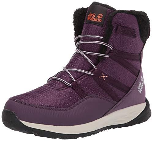 Jack Wolfskin POLAR WOLF TEXAPORE HIGH K Wasserdicht Schneestiefel Unisex-Kinder, Violett (Purple/Off-White 2818), 38 EU