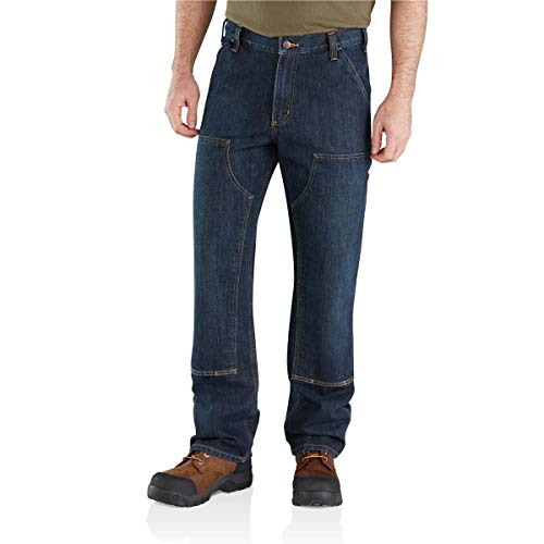 Carhartt Men's Relaxed Fit Holter Double-Front Dungaree, Blue Ridge, 32W X 32L