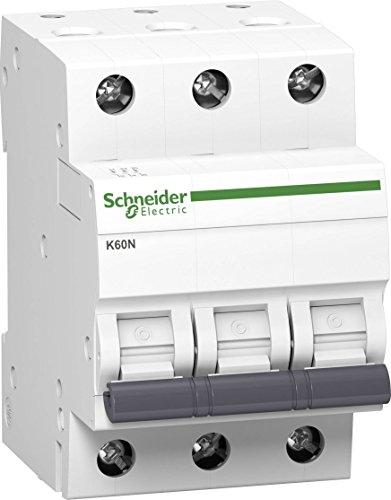 Preisvergleich Produktbild Schneider A9K02325 Leitungsschutzschalter K60N 3P,  25A,  C Charakteristik,  6kA