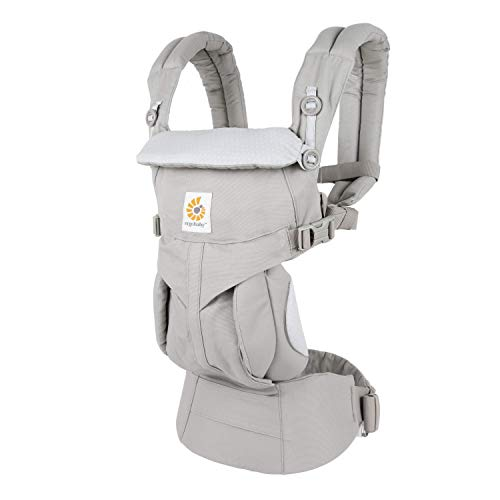 Ergobaby Omni 360 All-Position Baby Carrier for Newborn to Toddler with Lumbar Support (7-45 Pounds), Grey Diamond