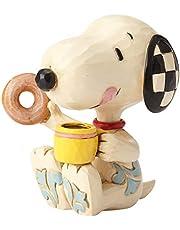 Enesco 6001297 Jim Shore Pinda's Snoopy Donuts en Koffie Miniatuur Beeldje, 3 Inch, Multicolor